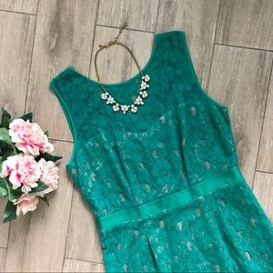 BCBG Max Azria Alice Lace Sheath Ultra Green Dress